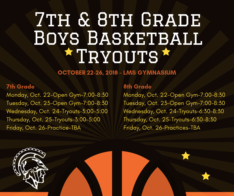 7th & 8th Grade Boys Basketball Tryouts