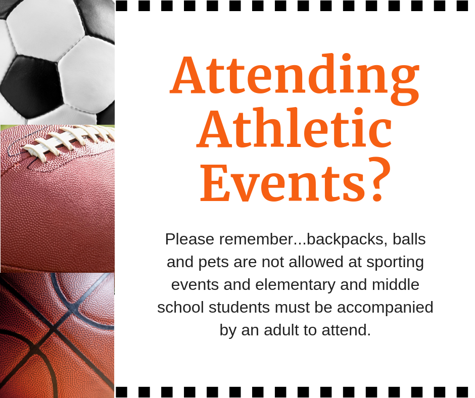 Athletic Events - Important Reminders