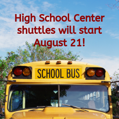 BCAMSC & CACC Shuttles to Begin August 21
