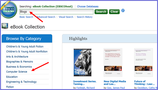 Searching eBook Collection